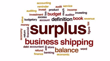 auditing : Surplus animated word cloud, text design animation.