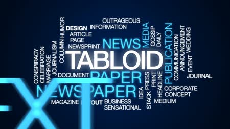 сплетни : Tabloid animated word cloud, text design animation.