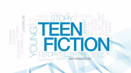 conta : Teen fiction animated word cloud, text design animation. Kinetic typography.