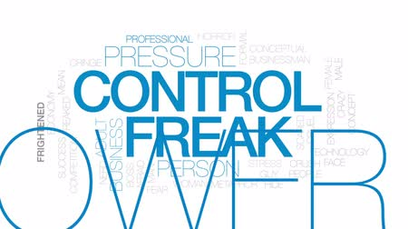 significar : Control freak animated word cloud, text design animation. Kinetic typography.