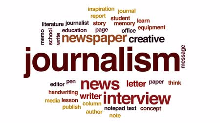 memo : Journalism animated word cloud, text design animation.