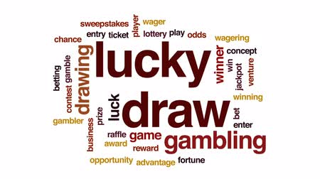 entry : Lucky draw animated word cloud, text design animation.