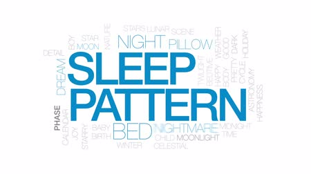 lidércnyomás : Sleep pattern animated word cloud, text design animation. Kinetic typography.