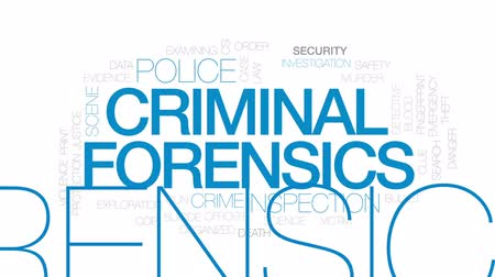 matança : Criminal forensics animated word cloud, text design animation. Kinetic typography. Stock Footage