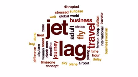 časová prodleva : Jet lag animated word cloud, text design animation. Dostupné videozáznamy