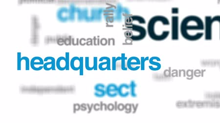 manipulacja : Scientology animated word cloud, text design animation. Wideo