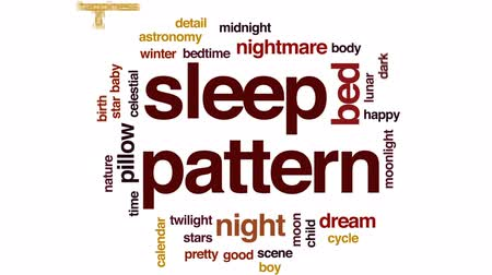 holdfény : Sleep pattern animated word cloud, text design animation.