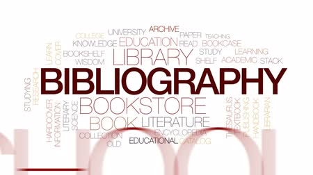 публиковать : Bibliography animated word cloud, text design animation. Kinetic typography.