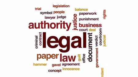 legislação : Legal animated word cloud, text design animation.
