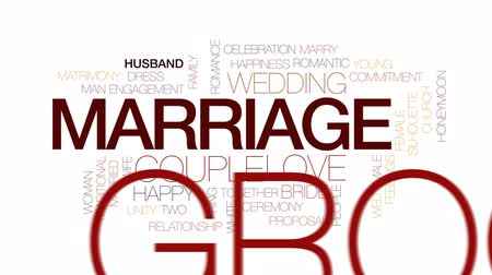 závazek : Marriage animated word cloud, text design animation. Kinetic typography.