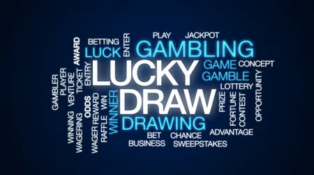 шансы : Lucky draw animated word cloud, text design animation.