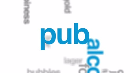 bira fabrikası : Beer animated word cloud, text design animation.