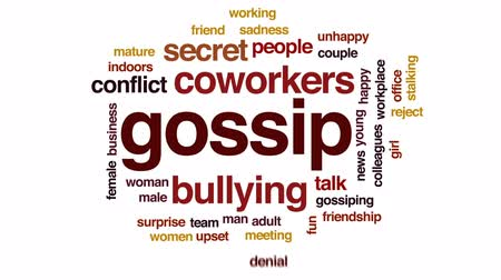 сплетни : Gossip animated word cloud, text design animation.