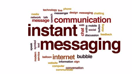 Речь воздушный шар : Instant messaging animated word cloud, text design animation.