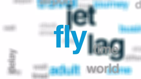 разница : Jet lag animated word cloud, text design animation. Стоковые видеозаписи