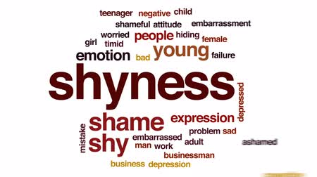 shameful : Shyness animated word cloud, text design animation.