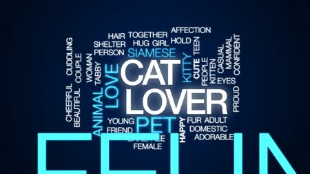 siamese : Cat lover animated word cloud, text design animation. Stock Footage