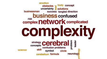 incerteza : Complexity animated word cloud, text design animation. Stock Footage
