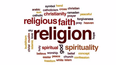 holy heaven : Religion animated word cloud, text design animation.