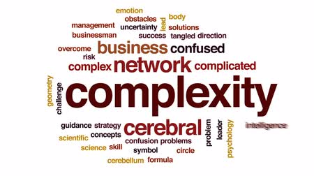 büyük ağ : Complexity animated word cloud, text design animation. Stok Video
