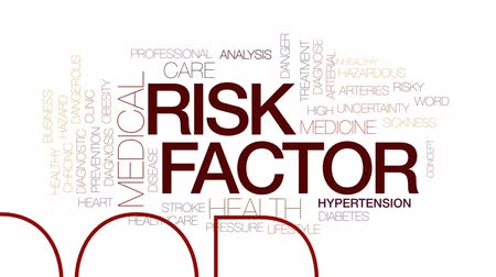 hypertension : Riskfactor animated word cloud, text design animation. Kinetic typography.