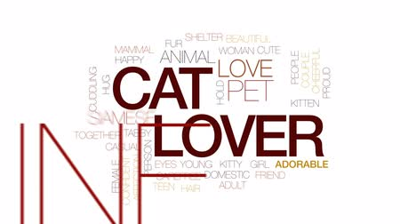 sziámi : Cat lover animated word cloud, text design animation. Kinetic typography.