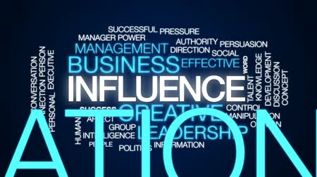 influence : Influence animated word cloud, text design animation.