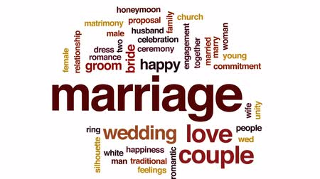 compromisso : Marriage animated word cloud, text design animation.