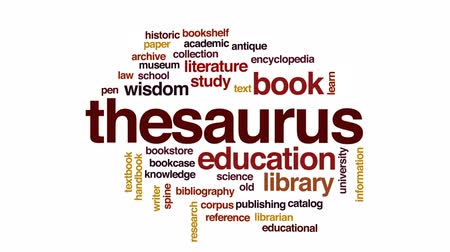 archívum : Thesaurus animated word cloud, text design animation. Stock mozgókép
