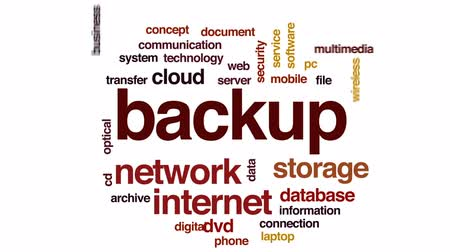 архив : Backup animated word cloud, text design animation.