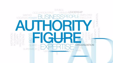 supervisor : Authority figure animated word cloud, text design animation. Kinetic typography.