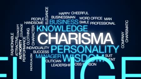 karizmatikus : Charisma animated word cloud, text design animation.