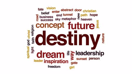 destiny : Destiny animated word cloud, text design animation. Stock Footage