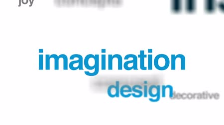 invenção : Inspiration animated word cloud, text design animation. Vídeos