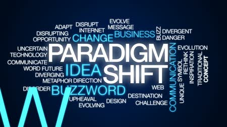 metaphors : Paradigmshift animated word cloud, text design animation.