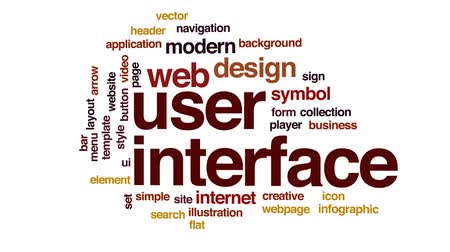 cabeçalho : User interface animated word cloud, text design animation.