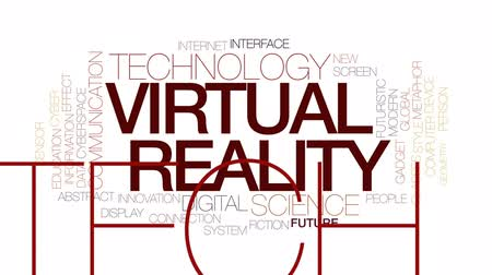 metaphors : Virtual reality animated word cloud, text design animation. Kinetic typography. Stock Footage