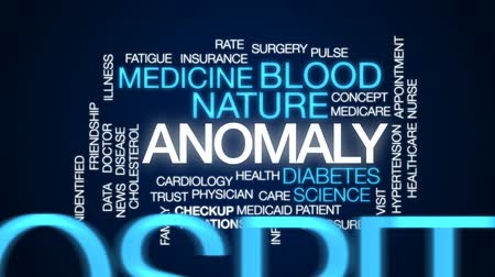 diyabet : Anomaly animated word cloud, text design animation.