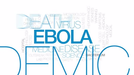 bakteri : Ebola animated word cloud, text design animation. Kinetic typography.