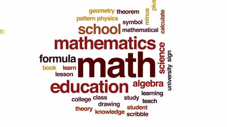 teoria : Math animated word cloud, text design animation.