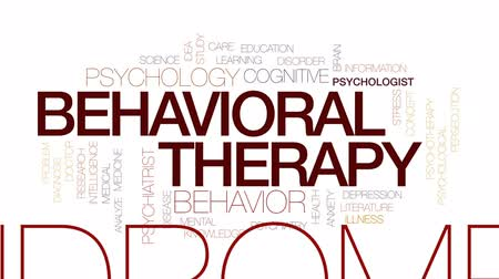 perseguição : Behavioral therapy animated word cloud, text design animation. Kinetic typography.