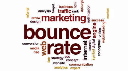 referral : Bounce rate animated word cloud, text design animation.
