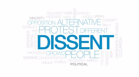 solidarita : Dissent animated word cloud, text design animation. Kinetic typography.