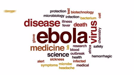 teste : Ebola animated word cloud, text design animation.
