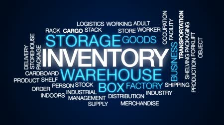 tesisler : Inventory animated word cloud, text design animation.