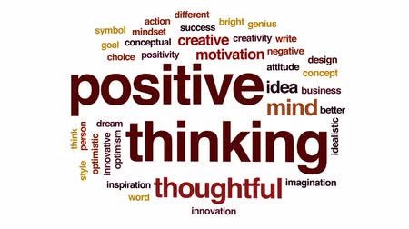 mindset : Positive thinking animated word cloud, text design animation.