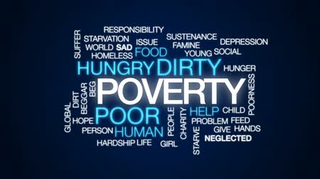 homeless : Poverty animated word cloud, text design animation.