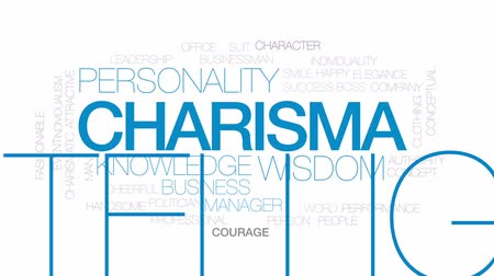 autoridade : Charisma animated word cloud, text design animation. Kinetic typography.