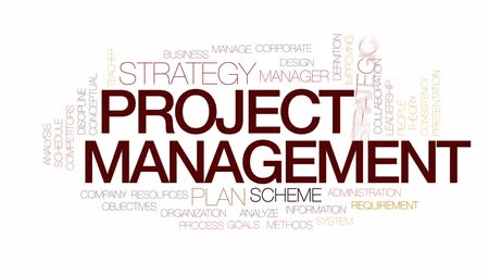 fegyelem : Project management animated word cloud, text design animation. Kinetic typography.