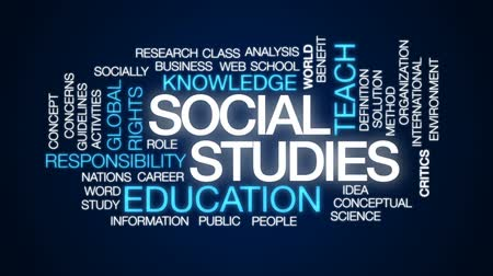 benefício : Social studies animated word cloud, text design animation.